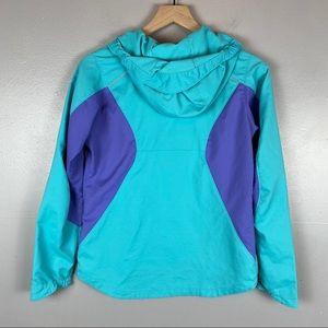 Columbia Jackets & Coats - Columbia Youth large hooded jacket teal purple